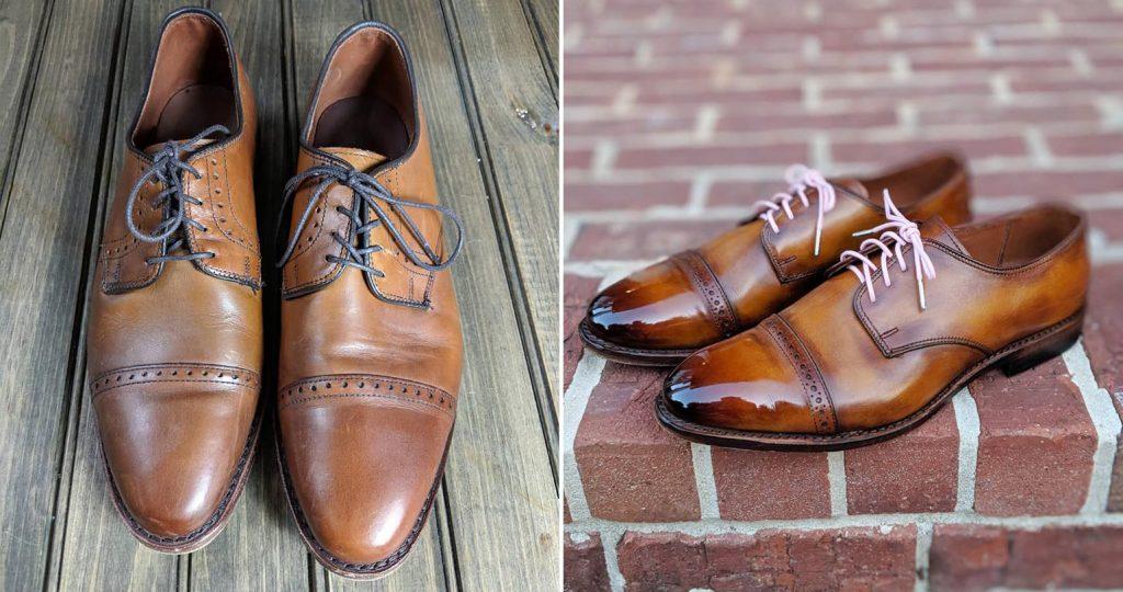 shoe care, entretien et patine