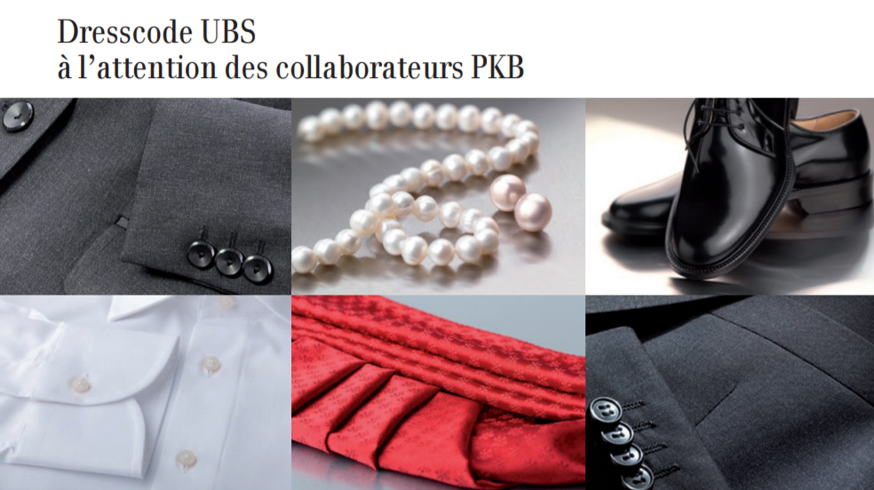 UBS dresscode cravate