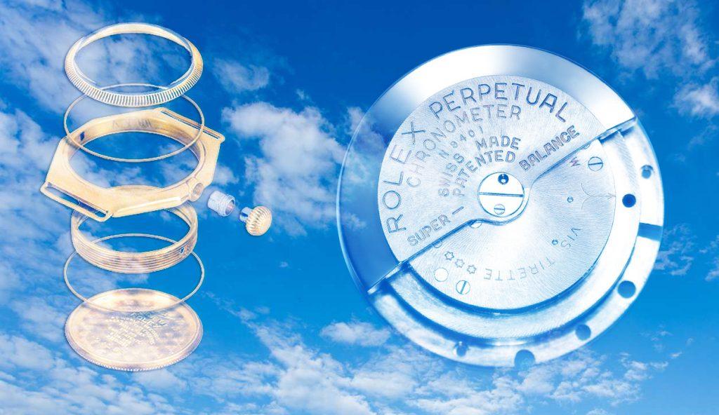 Boite Oyster Rolex et Mouvement Perpetual Rolex