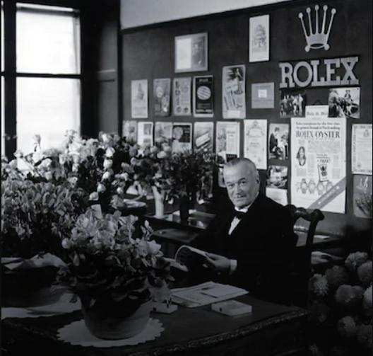 Hans Wilsdorf dans son bureau